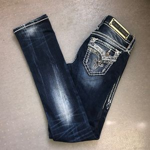 Rock Revival Jeans Distressed Kai Straight Sz. 26